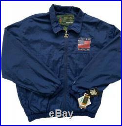 Vintage 90s Starter 1996 Atlanta Olympics Jacket Size Mens Large Navy VERY RARE