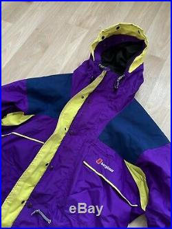 Vintage Berghaus Alpine Extrem GoreTex Jacket Size L Very Rare Purple Winter