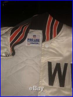 Vintage Cleveland Browns starter pro line bomber jacket Large. VERY RARE. Baker