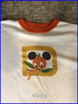 Vintage Disney Orange Bird Shirt Size Large Very Rare