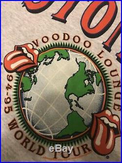 Vintage OG 90s 94 95 Rolling Stones Voodoo Lounge Band Hoodie Jacket VERY RARE