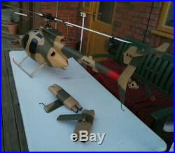 Vintage Rare X-Cell MD500 ARMY RC Helicopter VERY LARGE