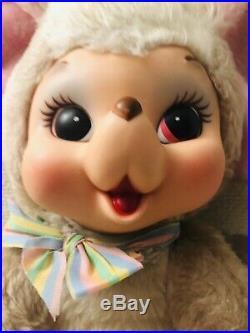 Vintage Rushton Mouse Rat Mice Rubber Face Big Ears Large Plush Doll VERY RARE