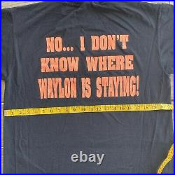 Vintage The Waylon Jennings Show Stage Crew Security T Shirt Large Very Rare VTG