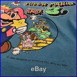 Vintage Very Rare Super Mario Bros 3 NES 1990 Nintendo Promo Shirt