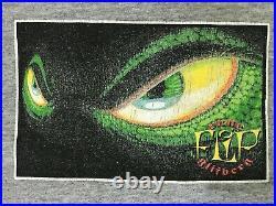 Vintage very RARE 90s FLIP SKATEBOARDS RUNE GLIFBERG Flip Gold Tee Shirt L USA