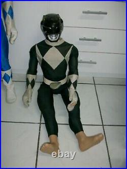 Vintage very large RARE Power Ranger figures Saban China 1994 Store displays