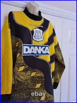 Vintage very rare Mens Everton 95 / 97 DANKA goalkeeper Shirt Size Large
