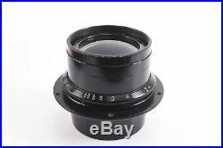 Voigtlander Collinear Series II No 4 7 7/8'' f5.4 Large Format Lens VERY RARE