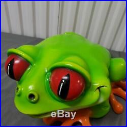 Vtg 00 Cha-Cha The Tree Frog Very Rare Iconic Rainforest Cafe Large Statue
