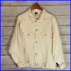 Vtg 1990 Betty Boop Vintage/Off White Denim Jacket Glitter Size Large Very Rare