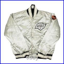 Vtg Very Rare NHL Los Angeles Kings Starter Satin Reversible Jacket. Mens Large