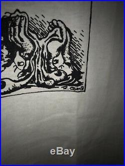 Vtg Vintage R Crumb Stone Again Agin Comic Shirt Tee Tshirt Very Rare