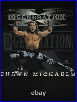 WWE VERY RARE Vintage Original WWF HBK Shawn Michaels DX WRESTLING Shirt withtags