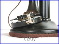 Western Electric Dial Candlestick & Very Large Rare Cow Bells Antique Telephone